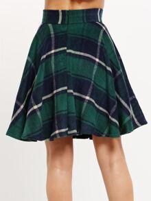 459e58db5 Green High Waist Checkered Skirt | SHEIN