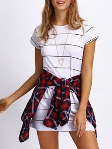 Mini-Striped T tricou Rochie