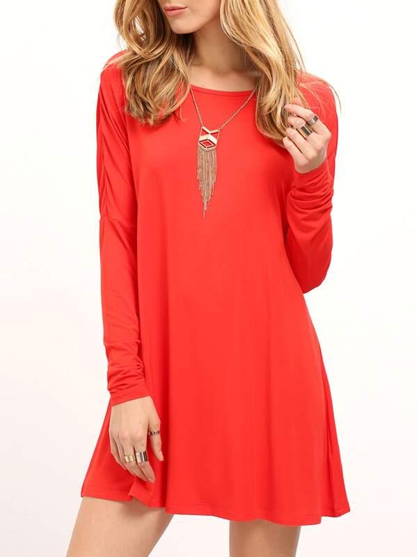 096283af61ac Cheap Red Round Neck Plain T-shirt Dress for sale Australia