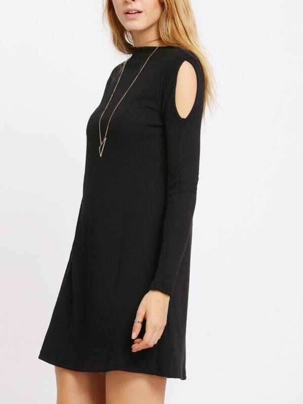 b3cc9668090b0 Cheap Black Long Sleeve Cold Shoulder Dress for sale Australia