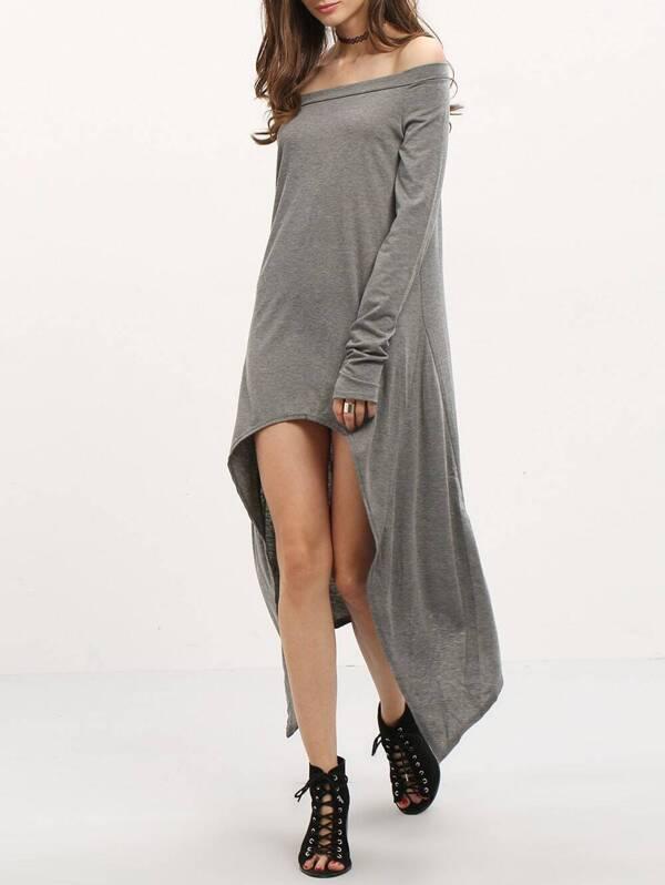 Grey Asymmetrical Dress