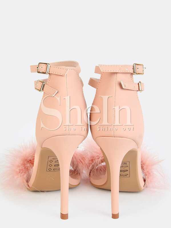 a4697fece4b4 Single Sole Feather High Heels Pink. AddThis Sharing Buttons