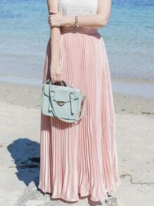 Falda plisada maxi -rosa