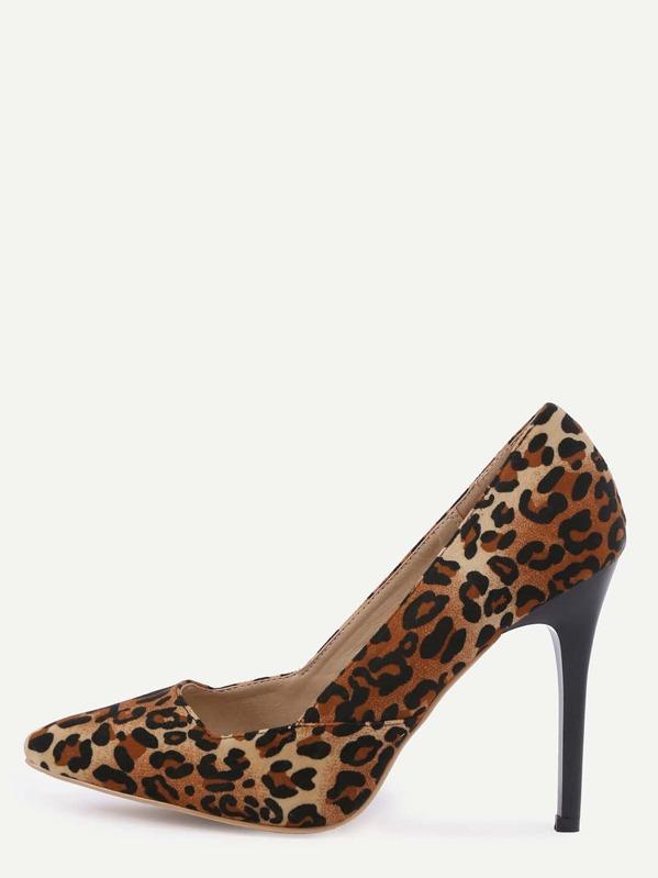 22ba2556a06 Leopard Faux Suede Pointed Toe Pumps
