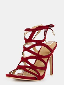 Di Kiuxzp Con Sottili Vino Colore E Listini Sandali Alto Tacco Rosso CxtrhQds