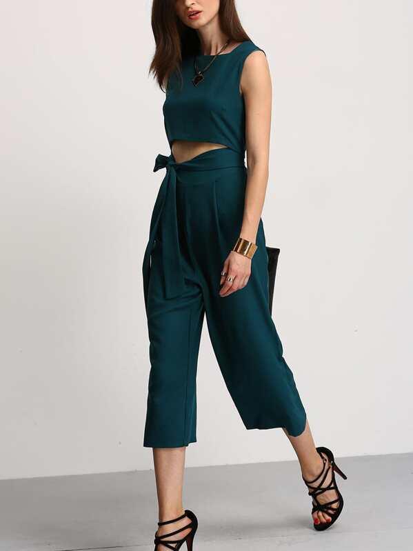 48fcac5b33c9 Cheap Green Cut Out Lace Up Jumpsuit for sale Australia