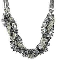 Crystal Full Rhinestone Chain Necklace
