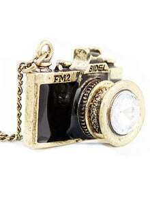 Black camera pendant necklace sheinsheinside aloadofball Gallery