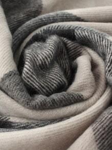 Écharpe classique avec franges motif plaid -Noir gris -French SheIn( Sheinside) 5b76ecdb391