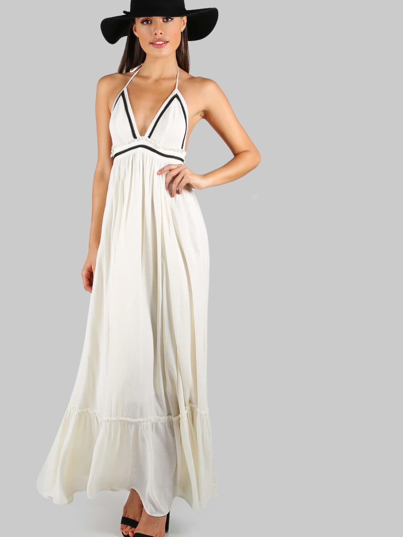 7d94c48160e Love Atlanta Halter Maxi Dress CREAM