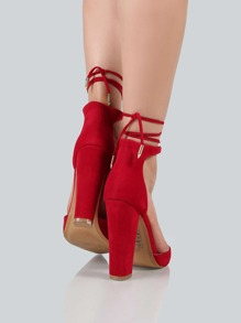 818cebc5a2a Cheap Ankle Wrap Closed Toe Heels RED for sale Australia