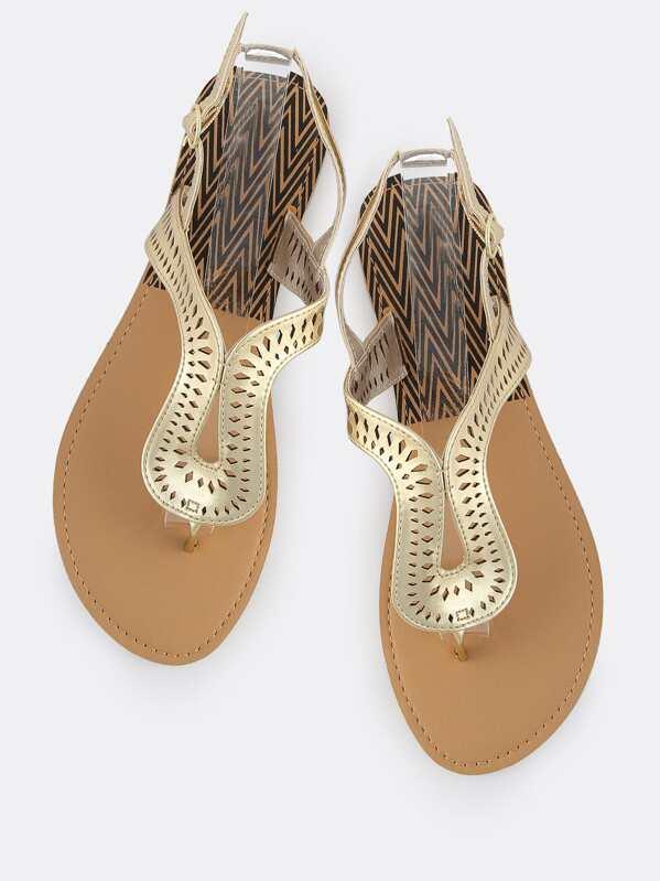 f324d865b4d88 Metallic Loop Thong Sandals GOLD -SheIn(Sheinside)