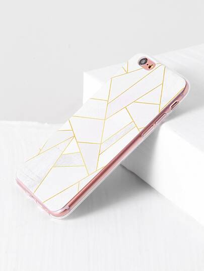 White Geometric Pattern iPhone 6/6s Case