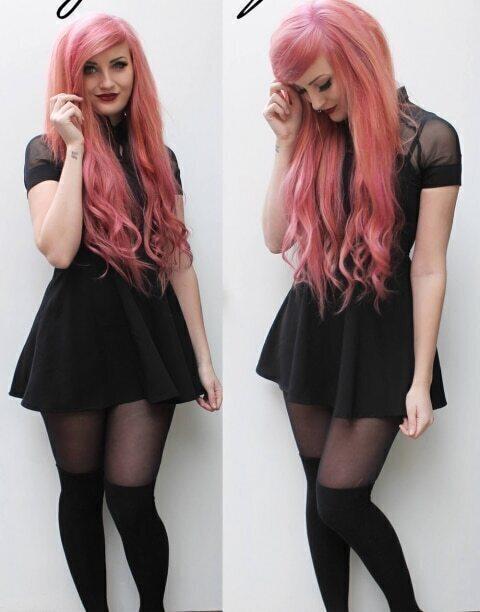Style black skater dress