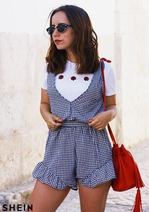 2f0cb023fdf Cheap Plunged Gingham Bow Tie Back Romper for sale Australia