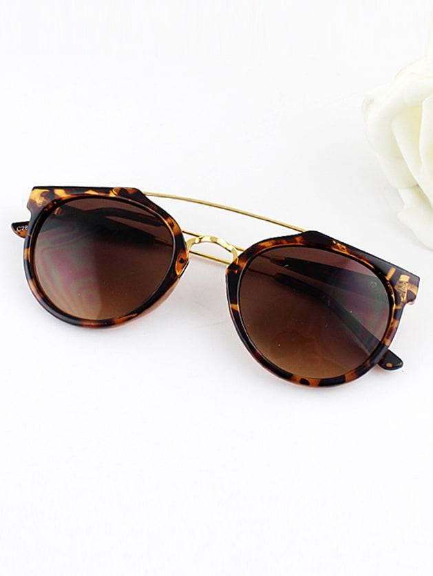 Frames Wrap Resin Sunglasses -SheIn(Sheinside)
