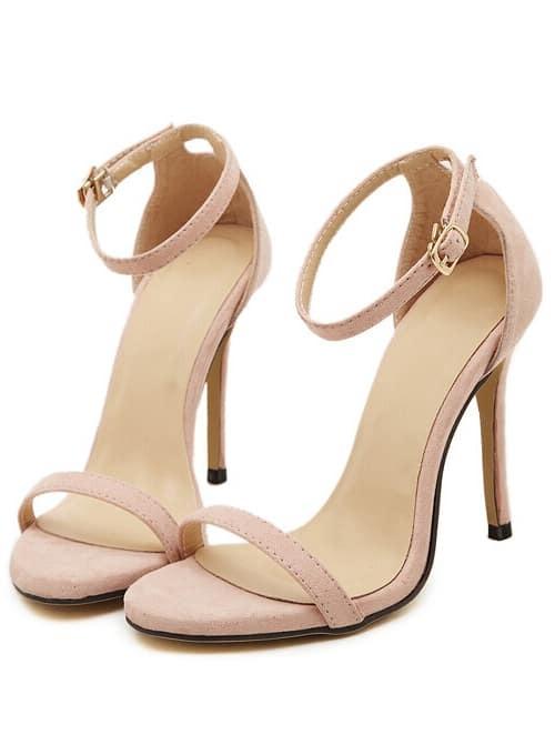 High Sandals Strap Ankle Heel Stiletto Nude oBdxWQreC