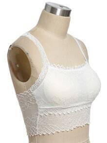 white spaghetti strap lace floral crochet lingerie shein