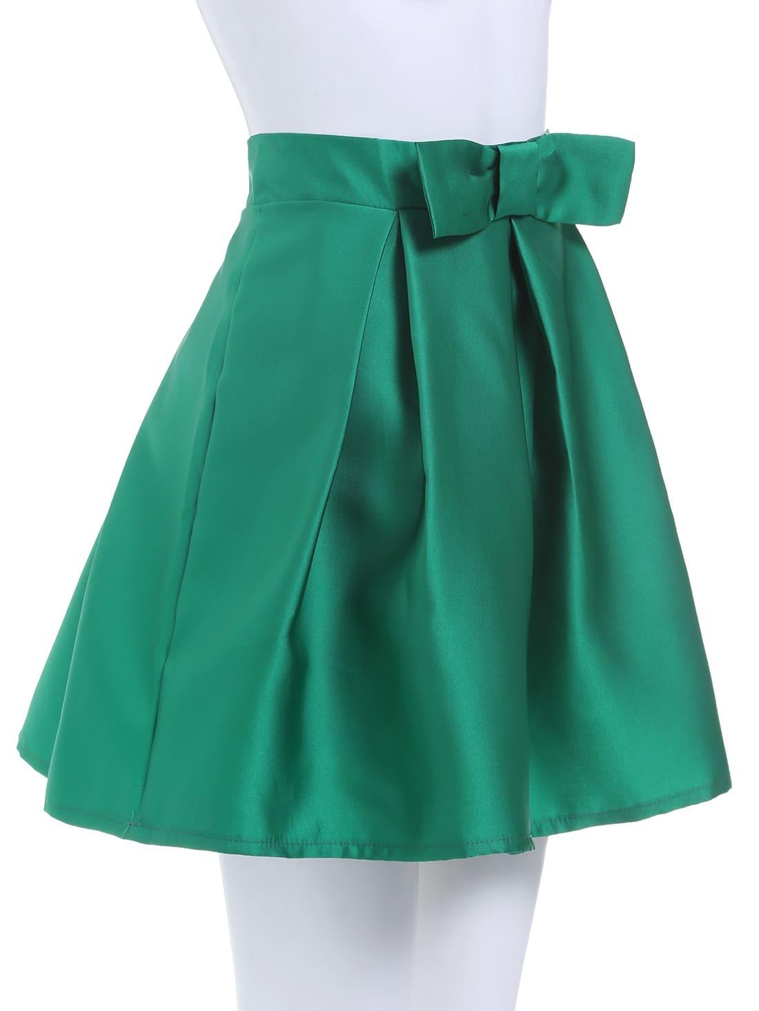 High Waist Bow Skirt 10