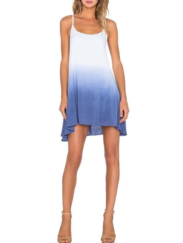 Spaghetti Strap Trapeze Dress