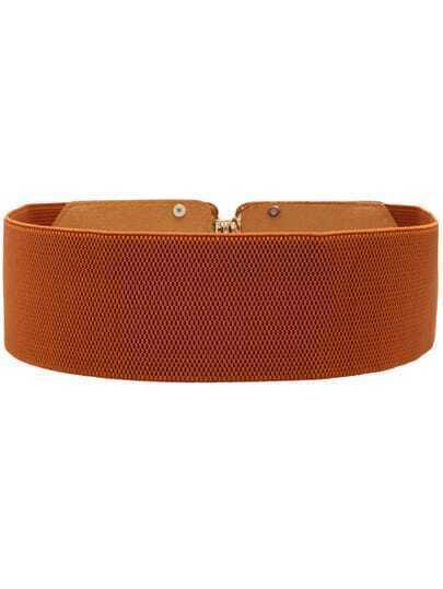 yellow metal buckle wide belt shein sheinside