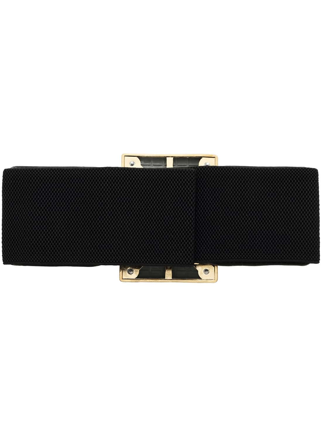 black metal buckle wide belt shein sheinside