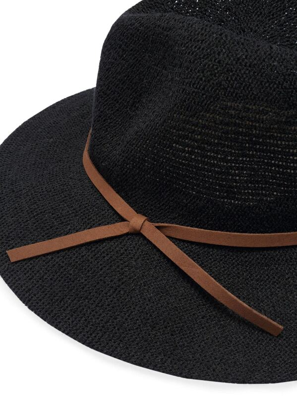 b238de4afc Black Casual Leather Belt Embellished Hat -SheIn(Sheinside)