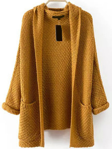 Pockets Chunky Knit Coat