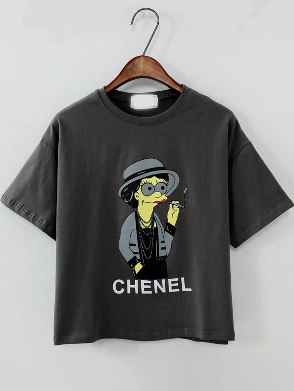 2bc11879c4 Cheap Cartoon Print Irresistible Ugly Grey T-shirt for sale Australia |  SHEIN