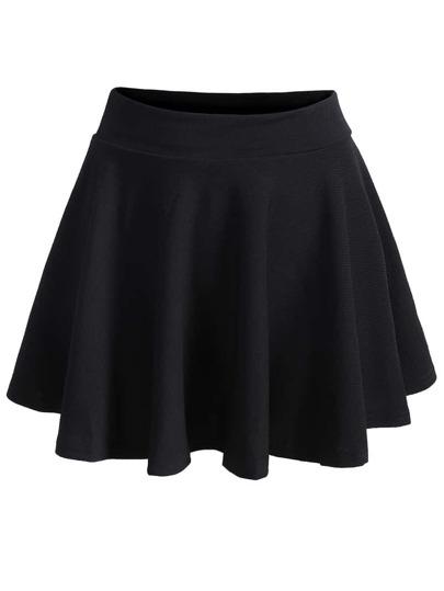 falda plisada cintura elástica-negro  9ab5d5745a47