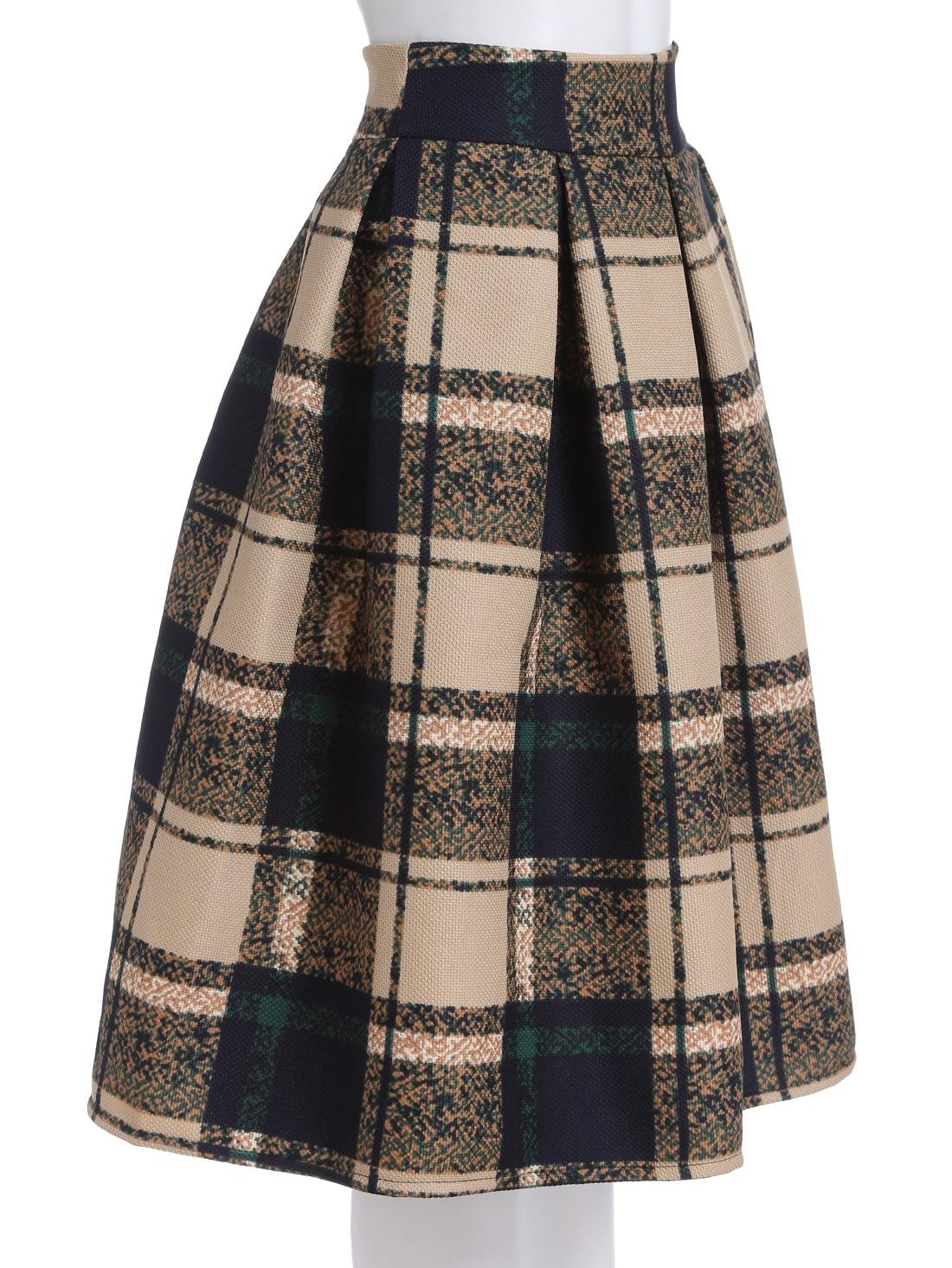 khaki vintage plaid midi skirt shein sheinside