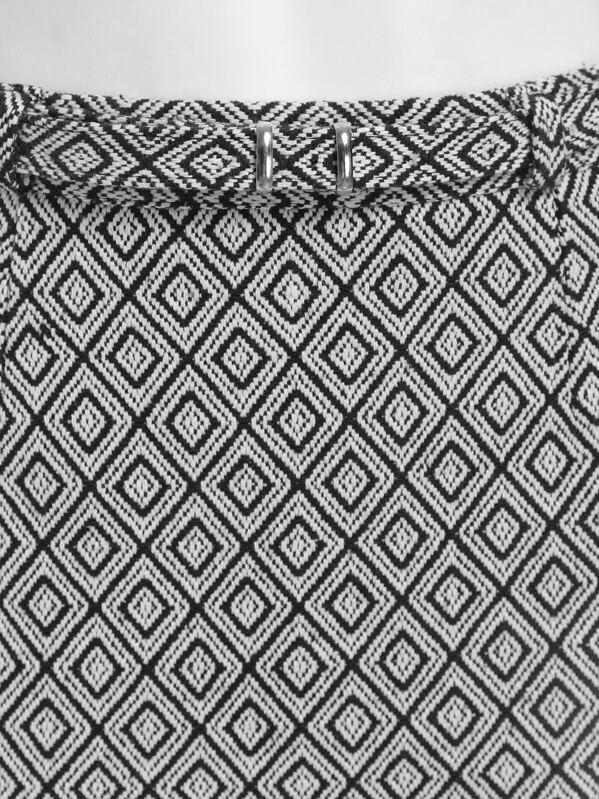 4cda4e686 jupe motif losange -Noir blanc