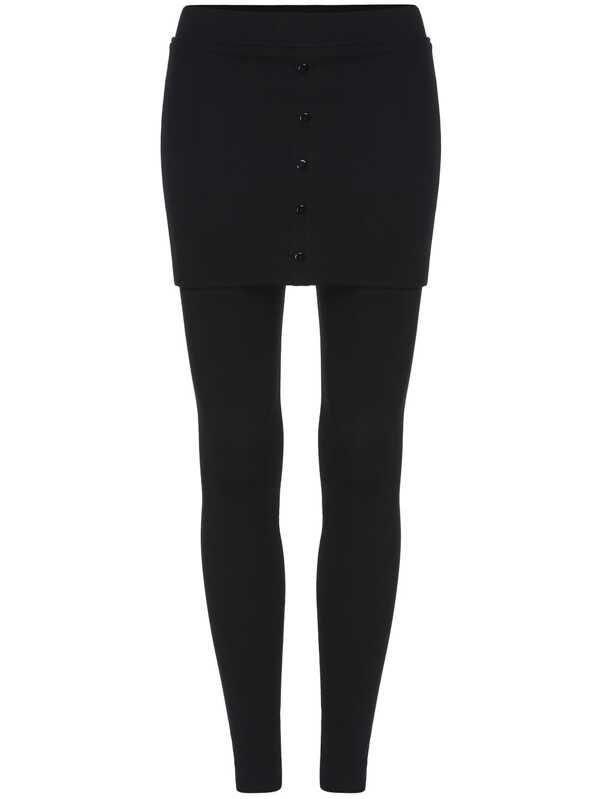 eee027a5b Black Skinny Buttons Skirt Leggings