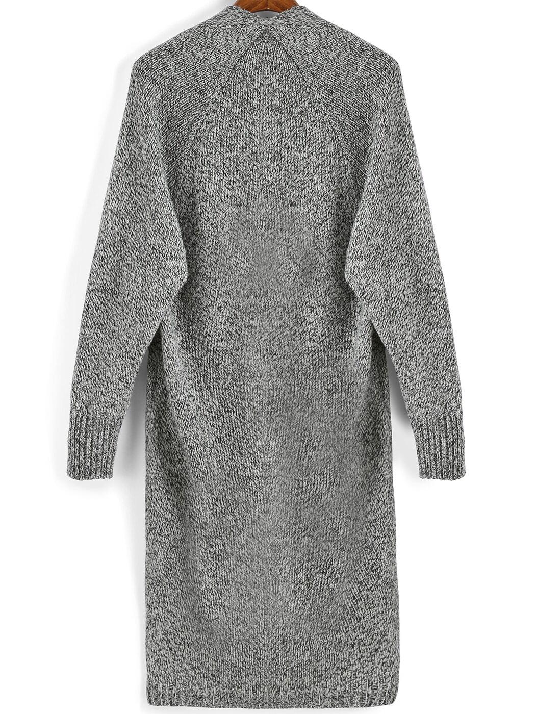 Grey Sweater Coat 88