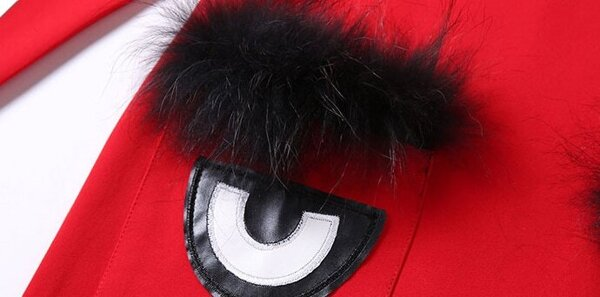 46c97fe14e0 Red Round Neck Eyes Pattern Straight Dress -SHEIN(SHEINSIDE)
