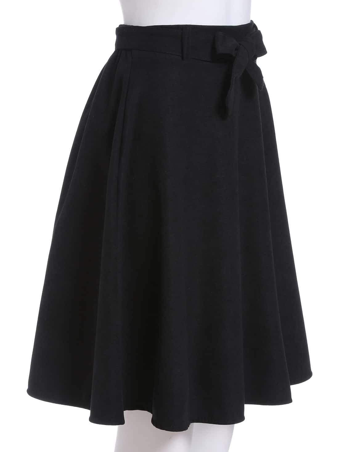 black high waist a line skirt shein sheinside