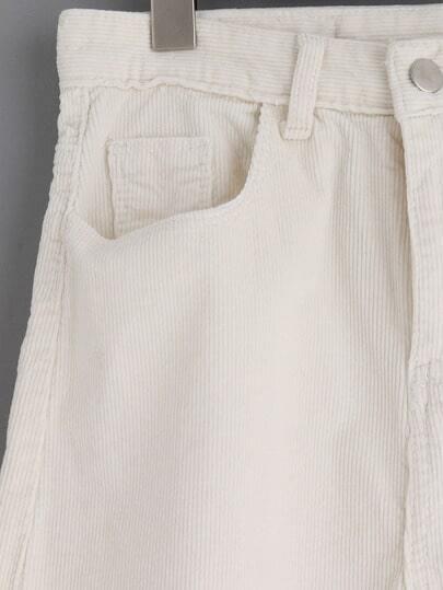 Pantal n bolsillos pana suelto blanco spanish shein for Suelto blanco suelto barato