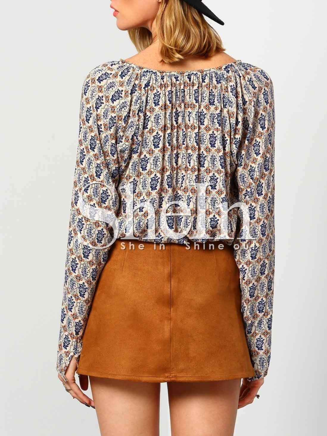 Print Blouse Long Sleeve 94