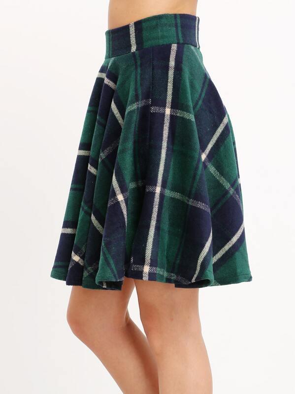 856f586f48 Cheap Green High Waist Checkered Skirt for sale Australia | SHEIN