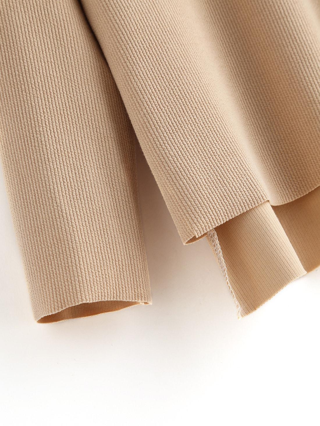 Pull trap ze couleur unis beige french shein sheinside - Couleur beige en anglais ...