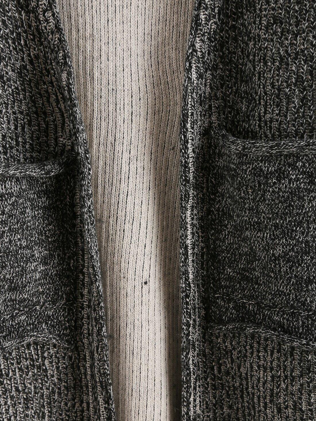 Grey Sweater Coat 112