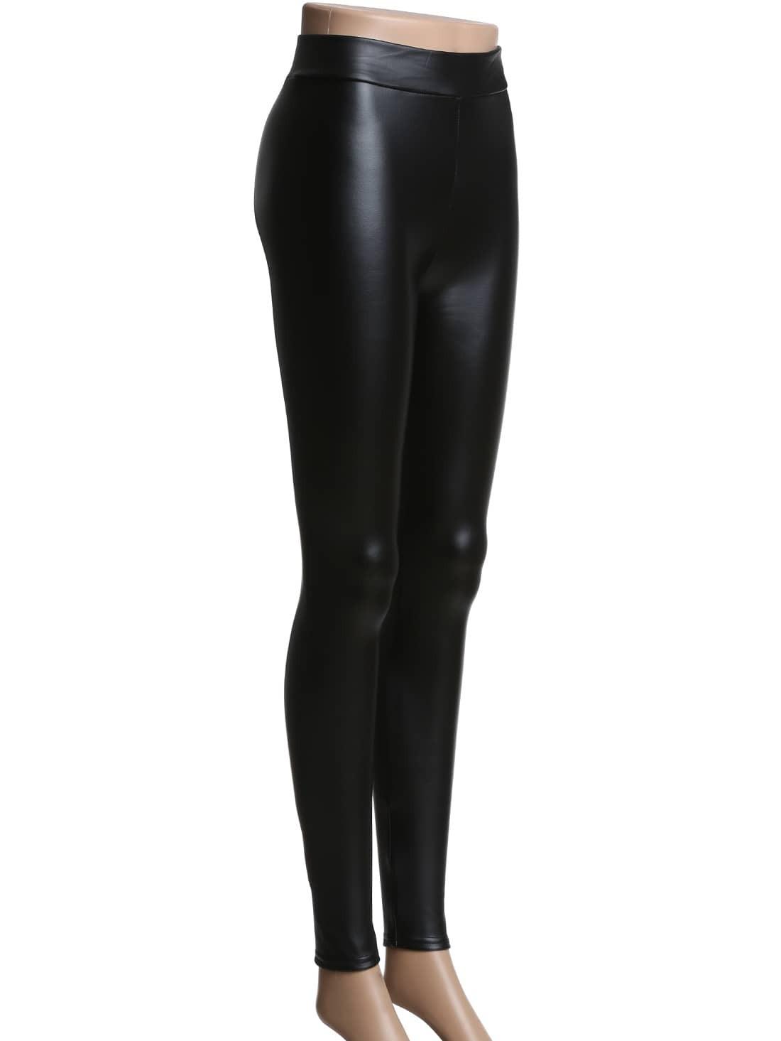 Черные кожаные брюки