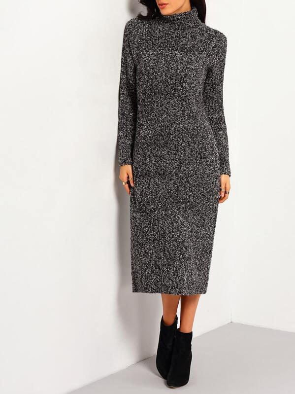 5f31d32a344e Black Turtleneck Long Sleeve Sweater Dress | SHEIN