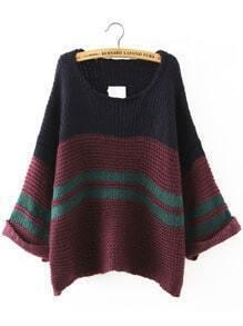 Crew Neck Loose Sweater Shein