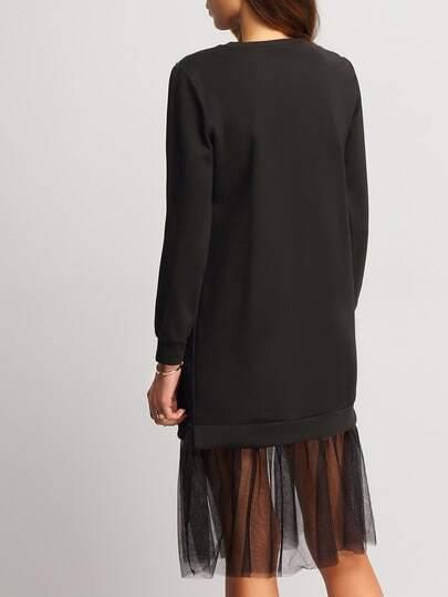 Sweatshirt kleid mit nieten besetzt schwarz german - Sweatshirt kleid lang ...