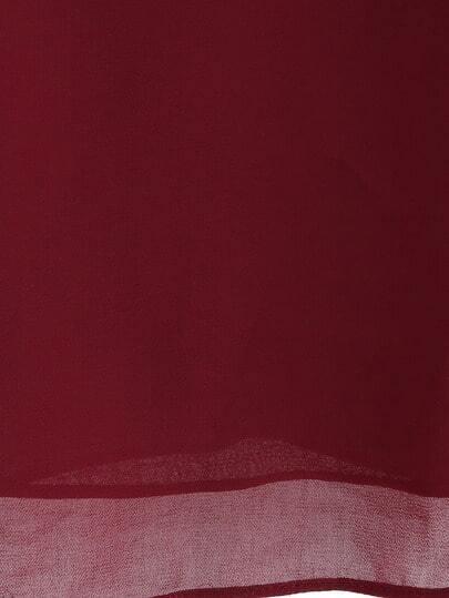 Top bretelle en mousseline couleur unie french shein sheinside - Couleur bordeau en anglais ...