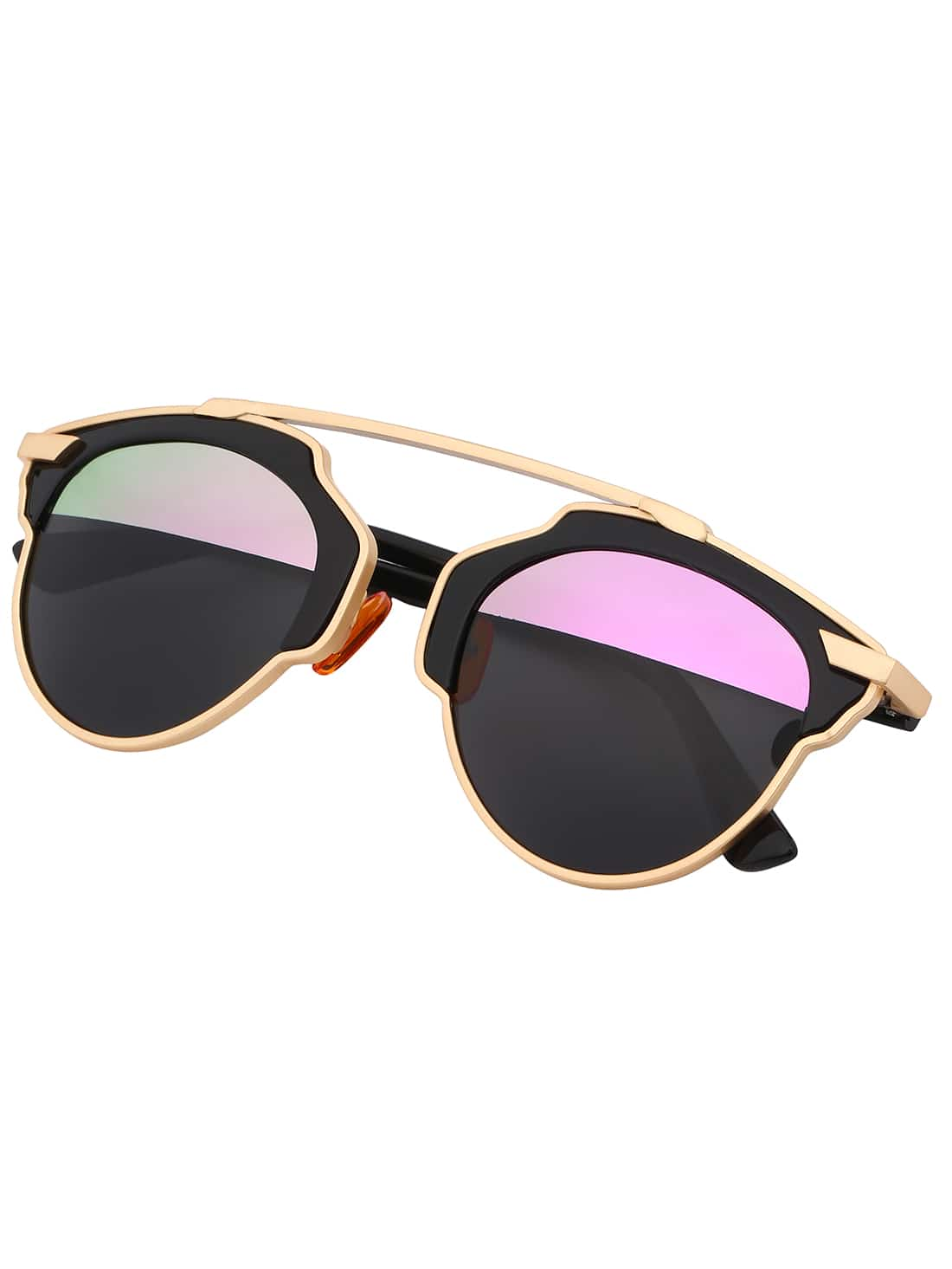 Contrast cut out frame fashion sunglasses shein sheinside What style glasses are in fashion 2015