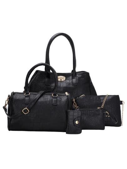bc3ea7207b Cheap Crocodile Embossed Double Turnlock Satchel Bag for sale ...