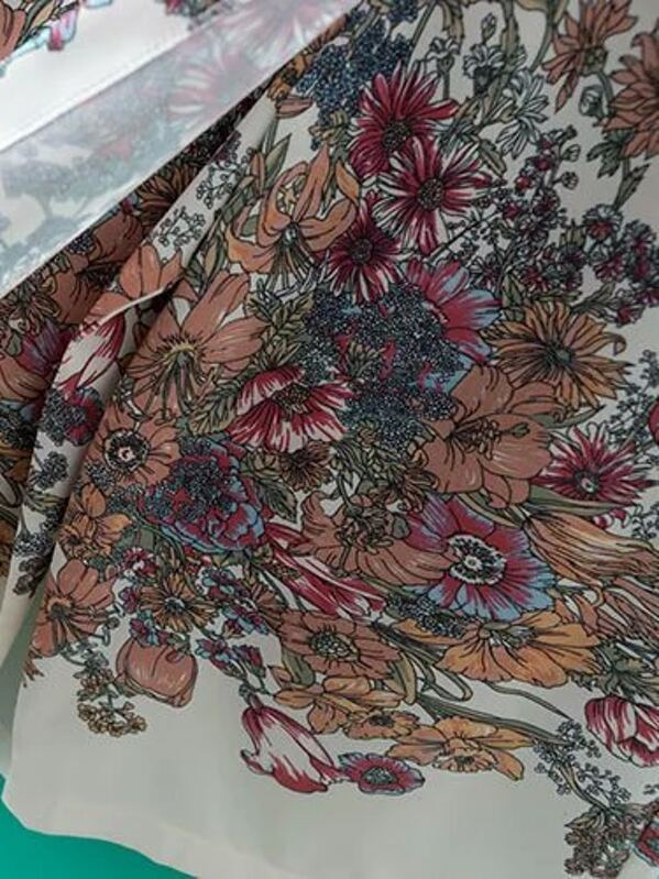 0ff030023b Multicolor Elastic Waist Flower Print Culottes -SHEIN(SHEINSIDE)