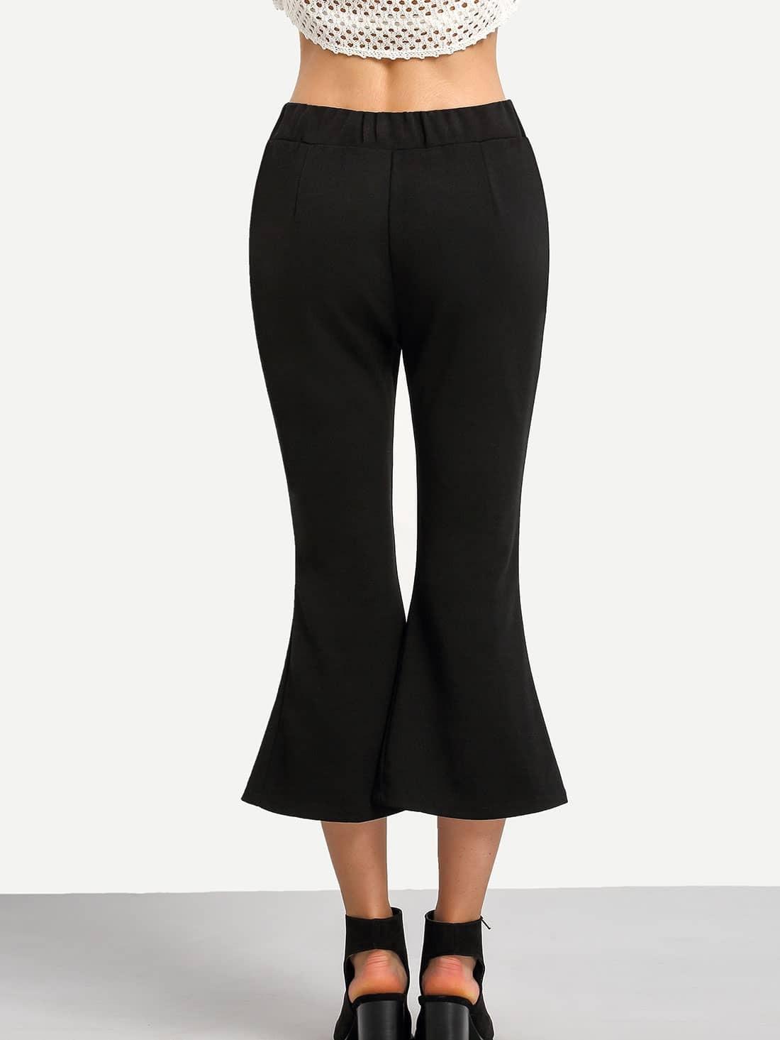 pantalon fendu noir french shein sheinside. Black Bedroom Furniture Sets. Home Design Ideas
